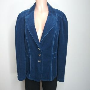 Lane Bryant blue corduroy jacket size 14